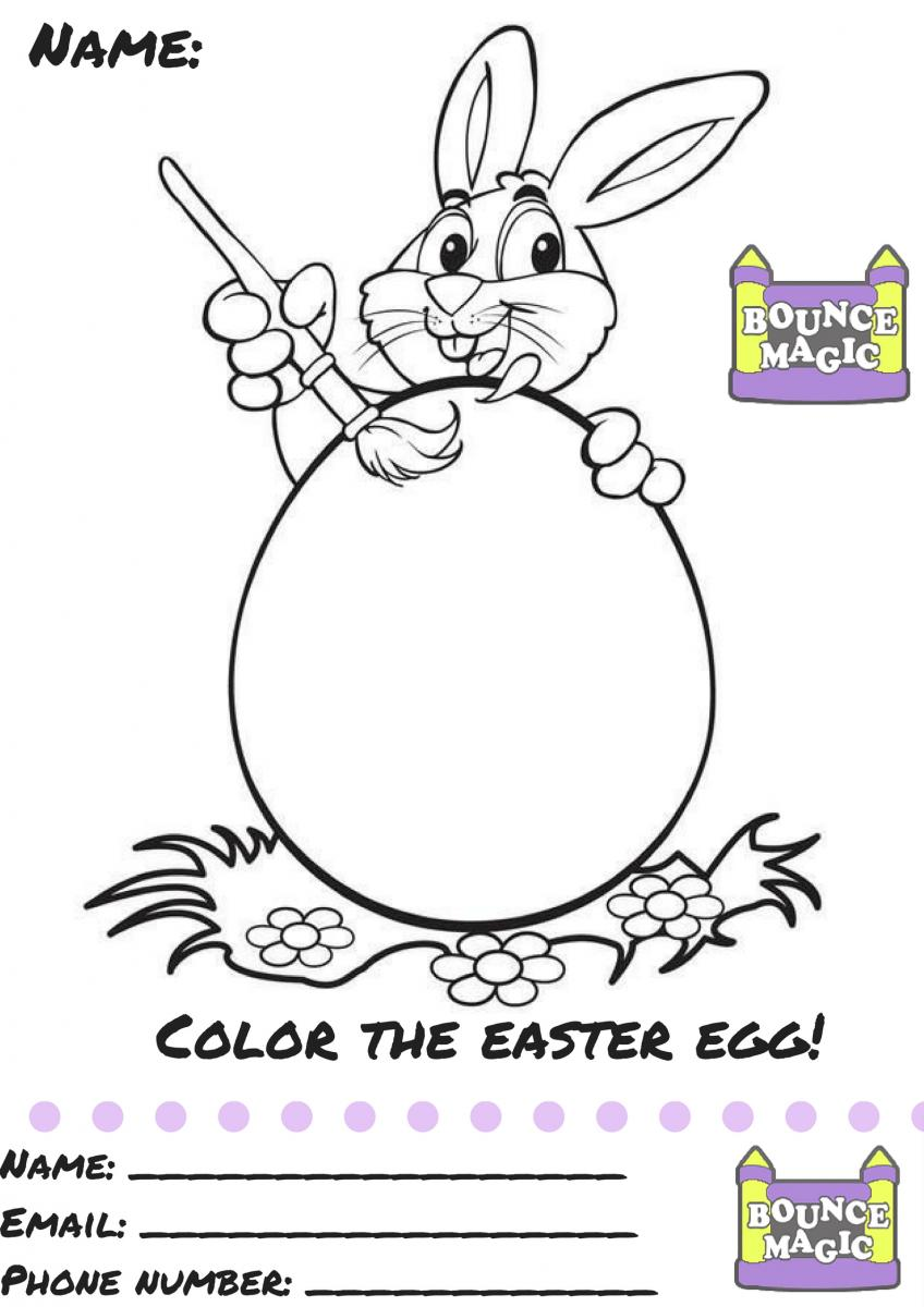 Coloring by numbers for rabbits - April